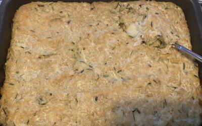 Gratin riz complet – courgettes – parmesan