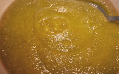 Soupe patate douce – haricots verts