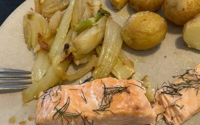 Dîner aromatique : Saumon au fenouil braisé